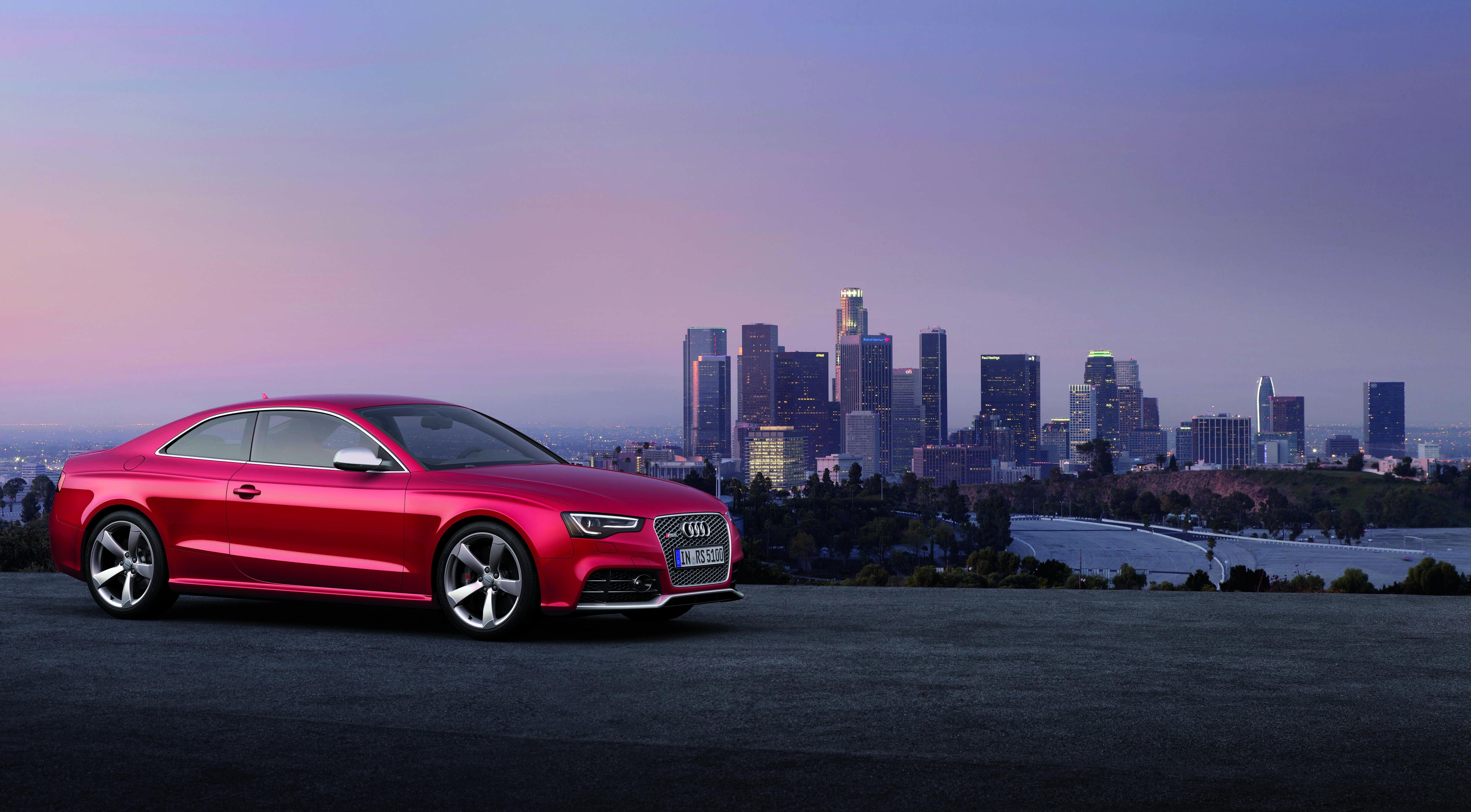 Audi A5 красная купе  № 3761329  скачать
