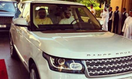 H.h. sheikh mohammed bin rashid al maktoum in all new range rover