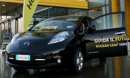 Hertz launches nissan leaf in ikea