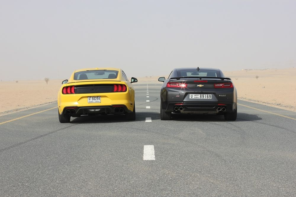 Ford Mustang vs Chevrolet Camaro Rear