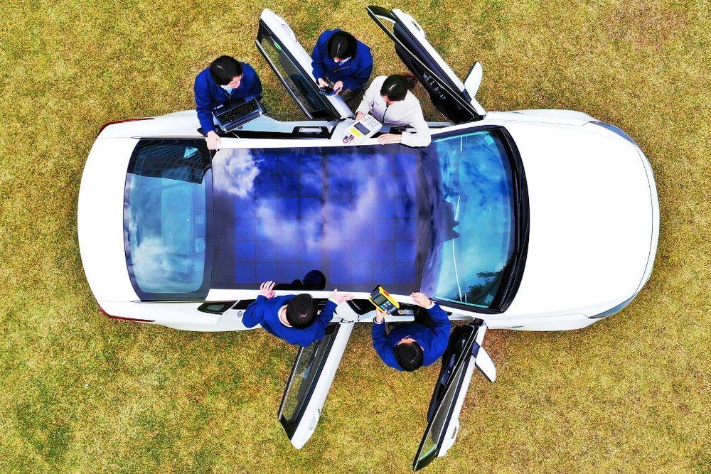 Hyundai Solar Charging Kia