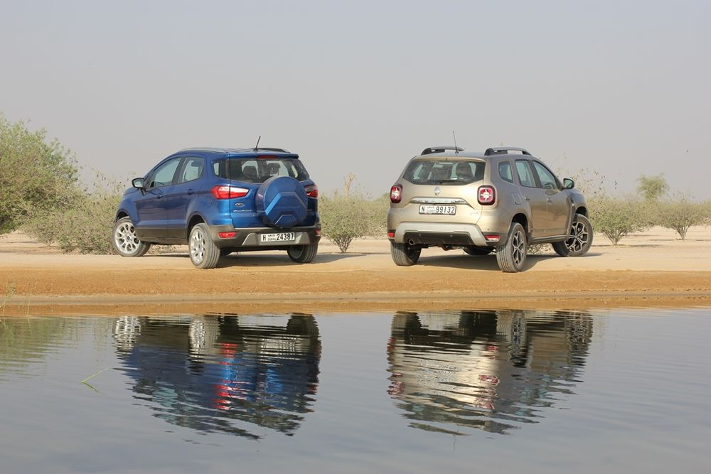 Renault Duster vs Ford EcoSport 2019 Rear