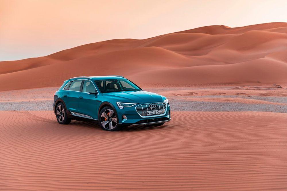 Audi e tron makes Middle East debut