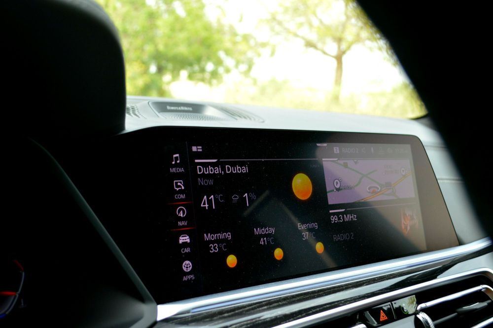BMW X7 infotainment screen