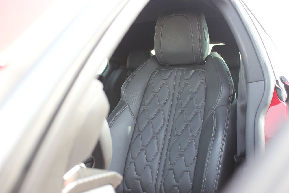 Leather seat with massage