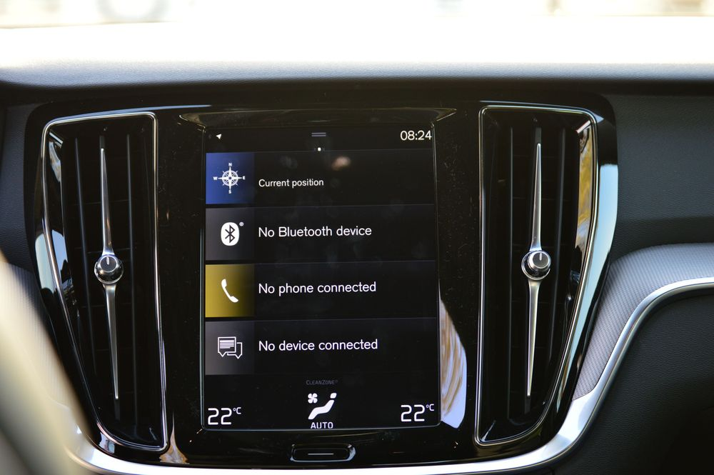 Volvo S60 Infotainment Screen