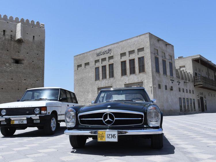 Classic Car Plates Dubai