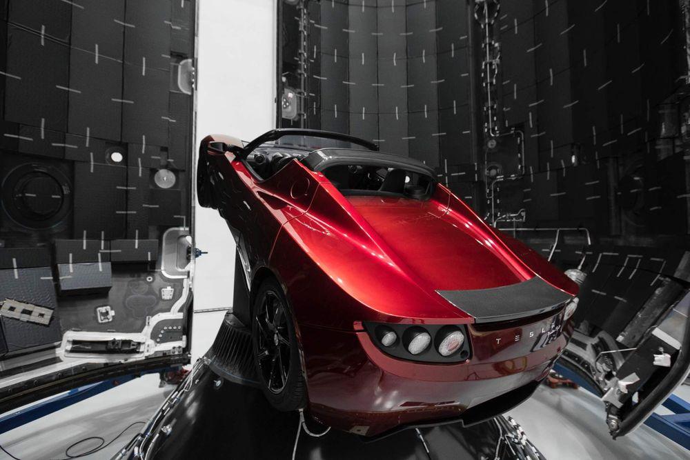 Tesla Ropadster Mars