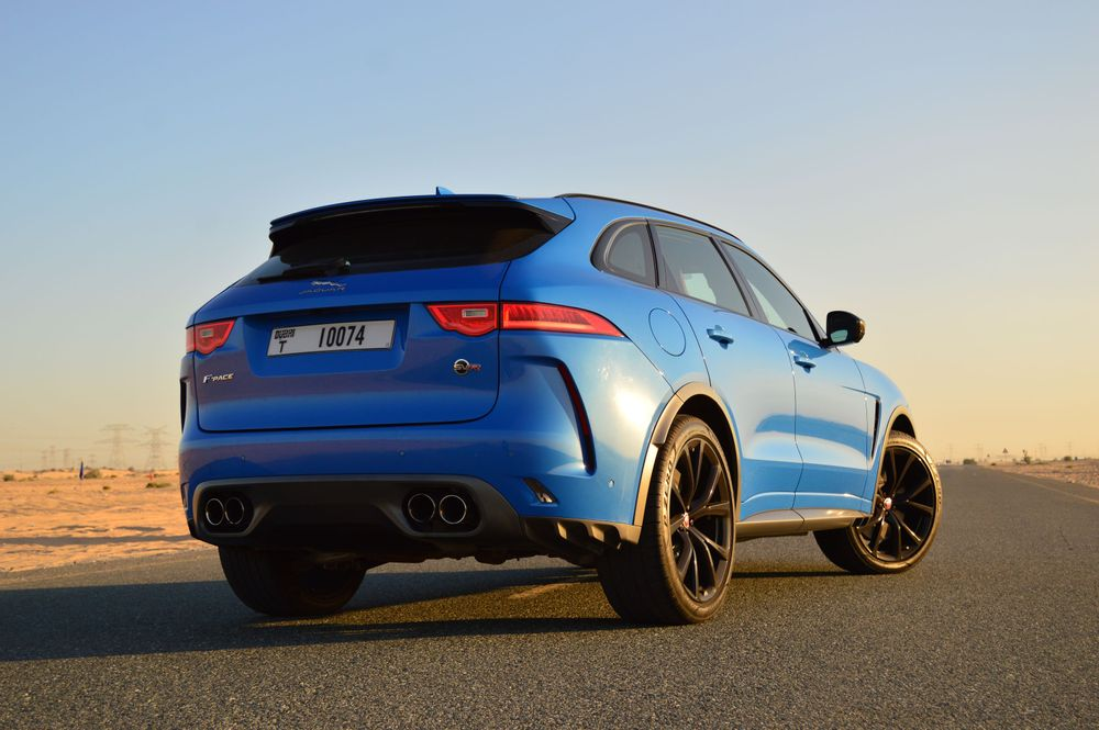 Jaguar F Pace SVR Back