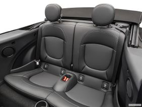 Mini Convertible 2019 Cooper, United Arab Emirates, Rear seats from Drivers Side.