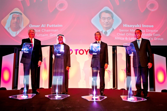 From Left to right: Len Hunt, Omar Al Futtaim, Hisayuki Inoue, Simon Frith