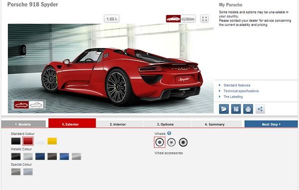 Build Your Car >> Build Your Own Porsche 918 Spyder Uae Yallamotor