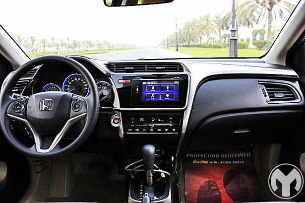 Road test 2015 honda city uae yallamotor for Motor city road test