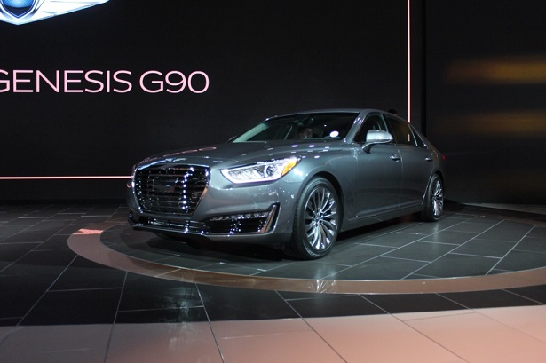 Hyundai S All New Luxury Brand Got Its First Public Preview At The Detroit Motor Show Showcasing Product Was G90 This Is Replacement