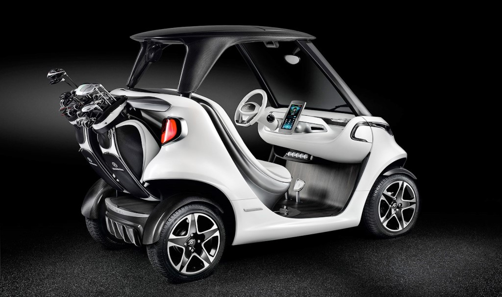 Luxury golf carts increasing in popularity uae yallamotor for How much is the mercedes benz golf cart