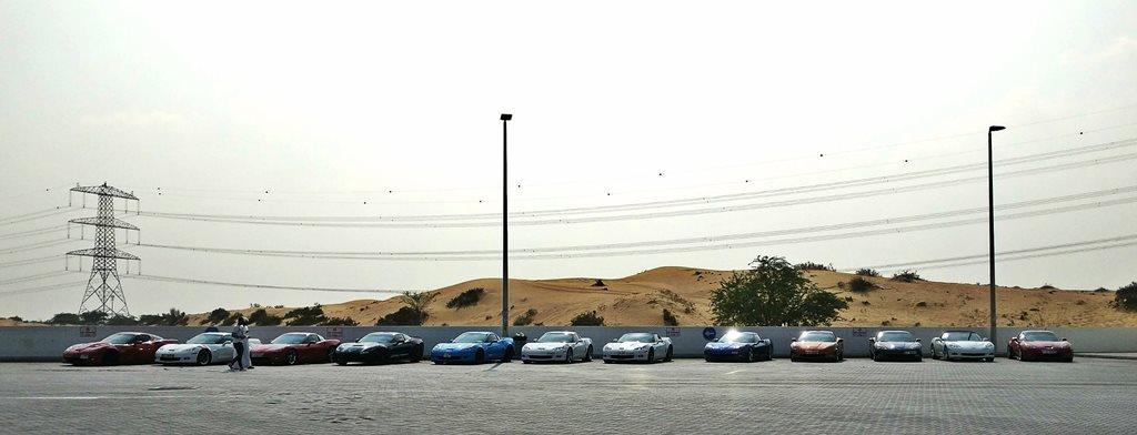 Mingling with Corvette UAE Club
