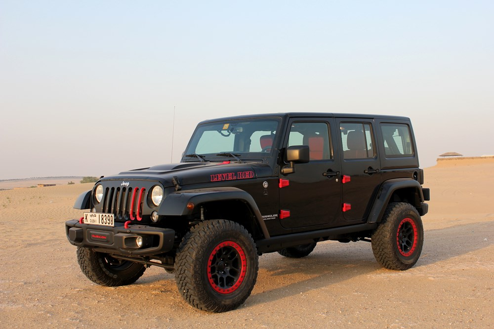 2016 jeep wrangler level red road test saudi arabia. Black Bedroom Furniture Sets. Home Design Ideas