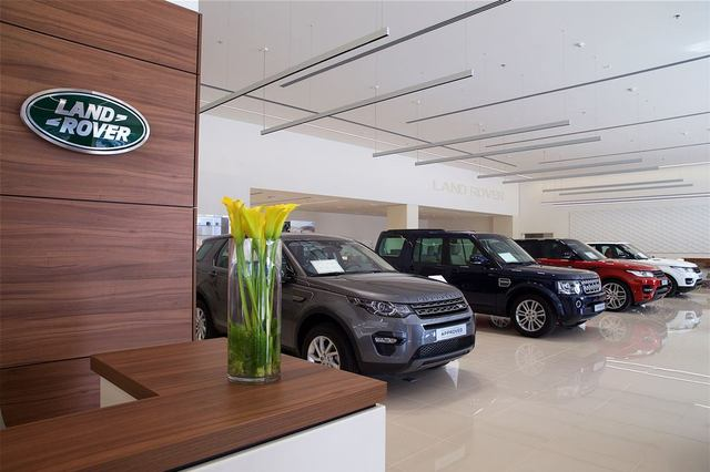 Al Tayer Motors Land Rover Showroom. ""