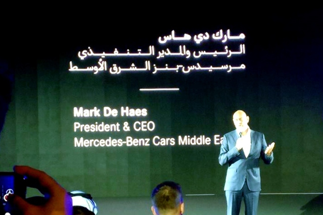 Mark De Haes Mercedes benz Middle East