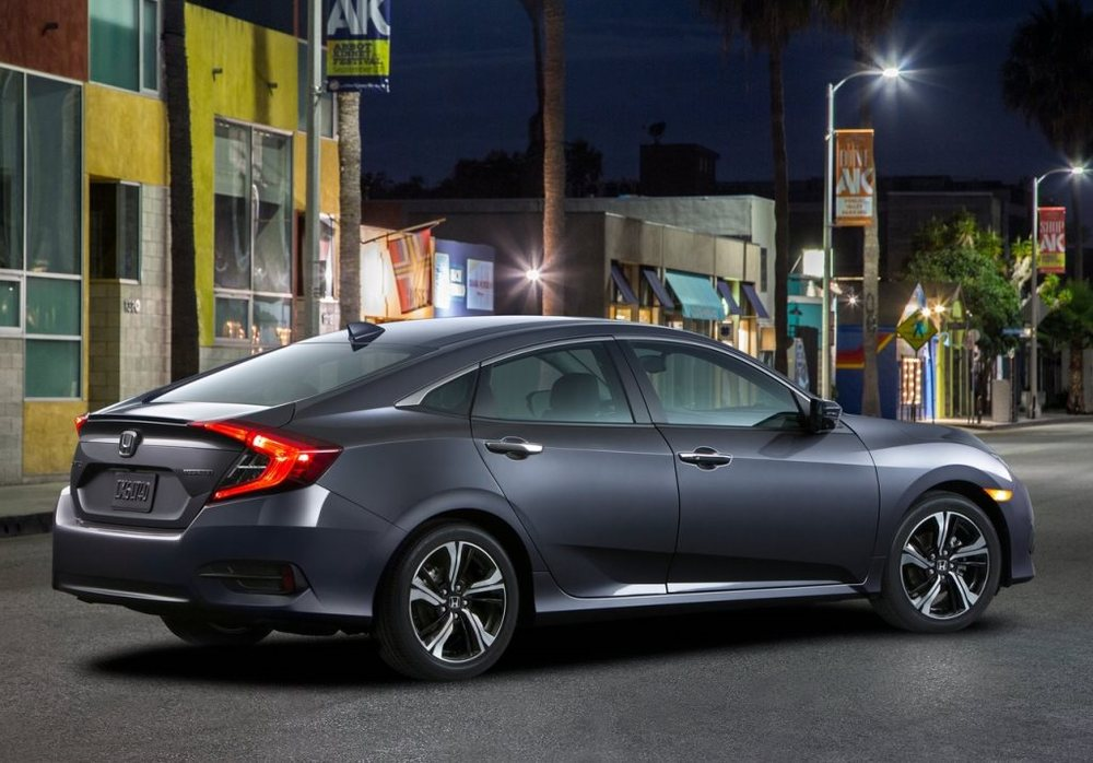 Honda Civic 2017 Rear. The Toyota Corolla ...