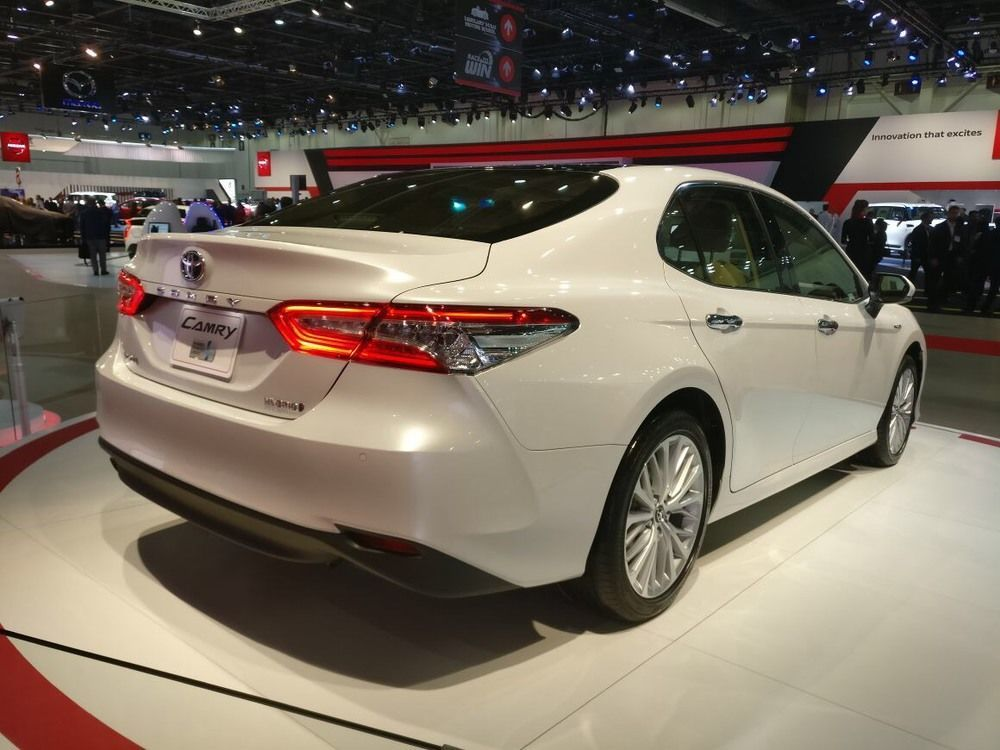 2018 Toyota Camry Dubai International Motor Show side
