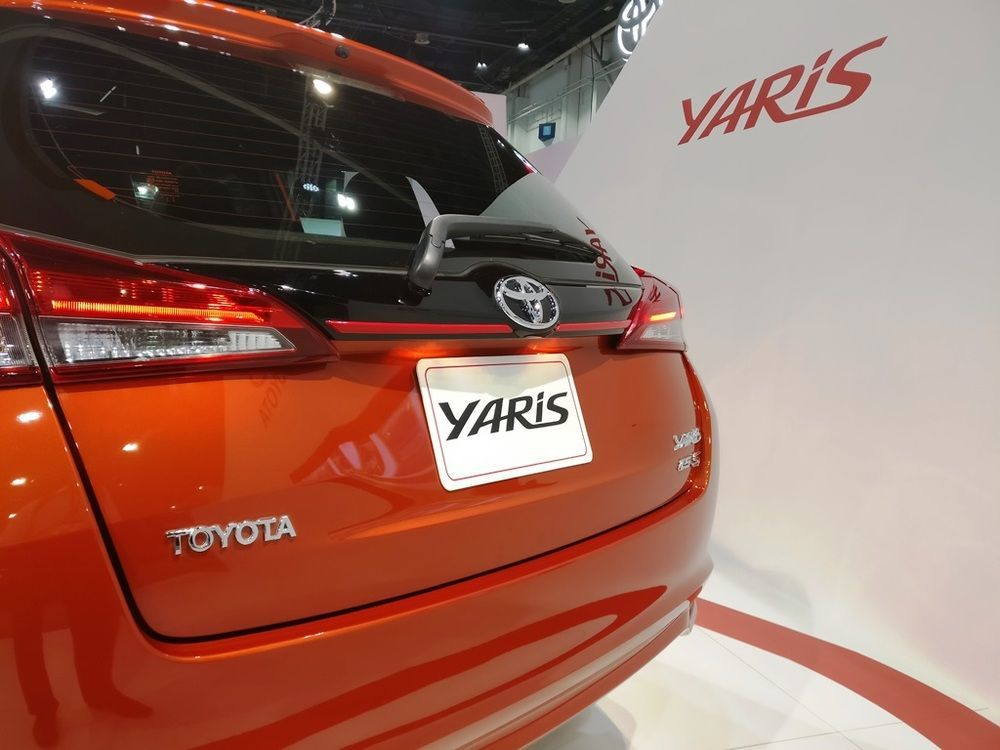 Toyota Yaris hatchback 2018 rear closeup