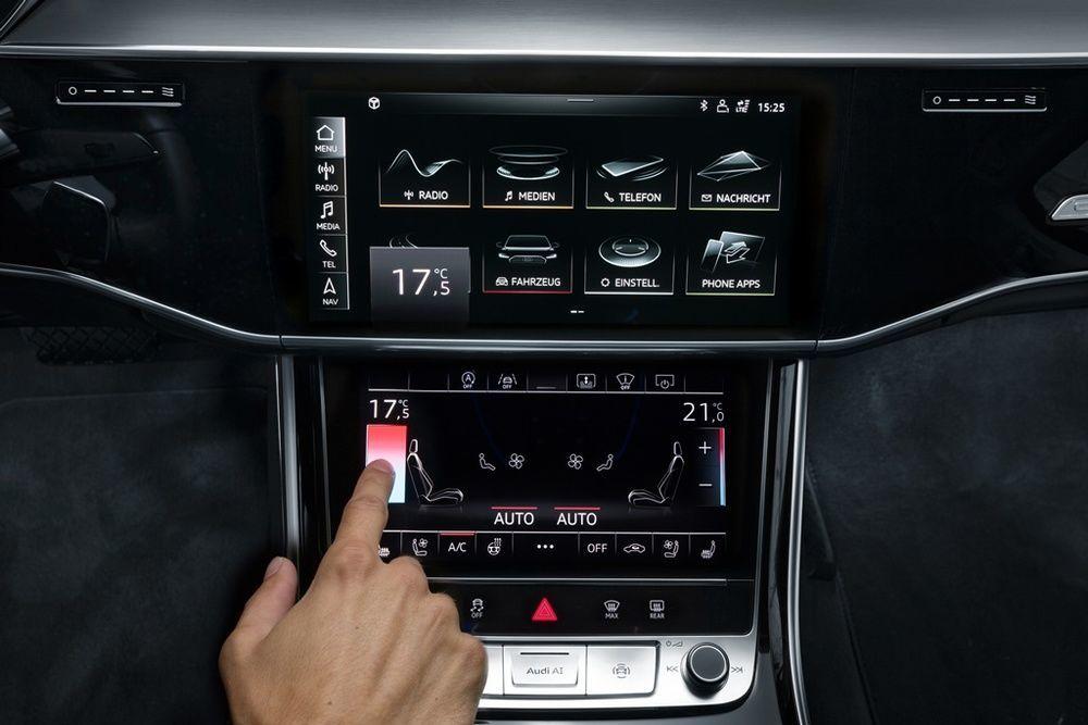Audi A8 2018 interior haptic feedback