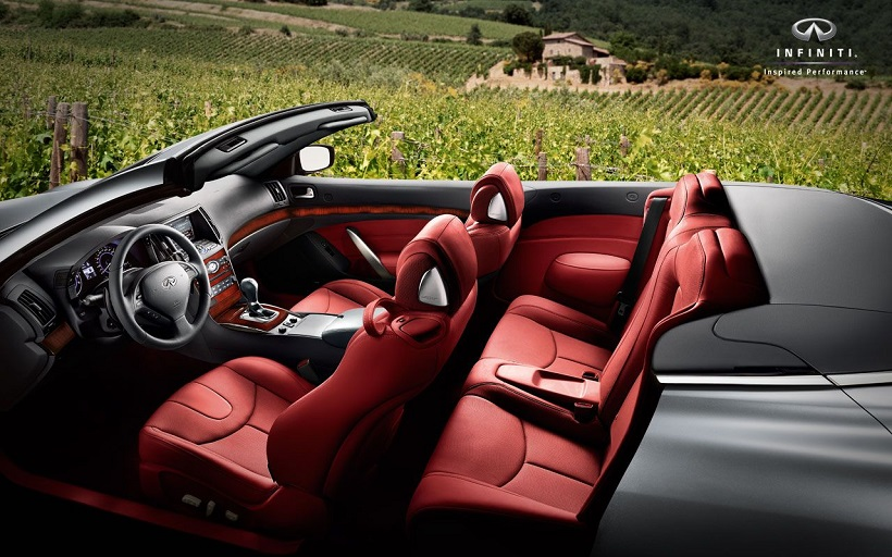 Infiniti Q60 Convertible 2016 3 7l Luxury Red United Arab Emirates