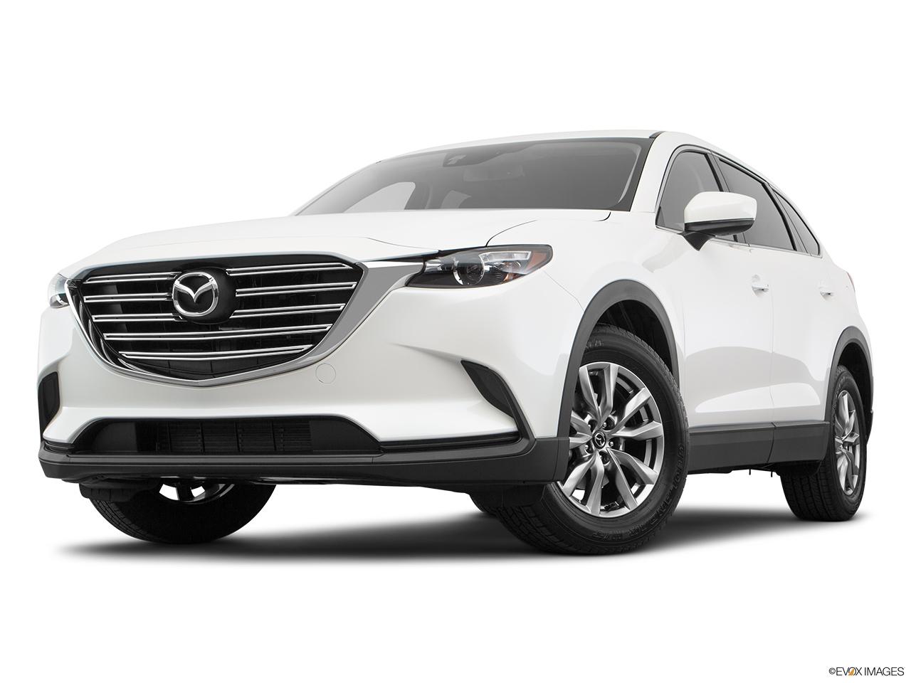 Mazda CX-9 2018, Saudi Arabia, Front angle view, low wide perspective.