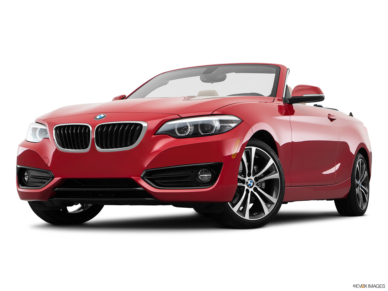 BMW 2 Series Convertible 2018, Saudi Arabia, Front angle view, low wide perspective.