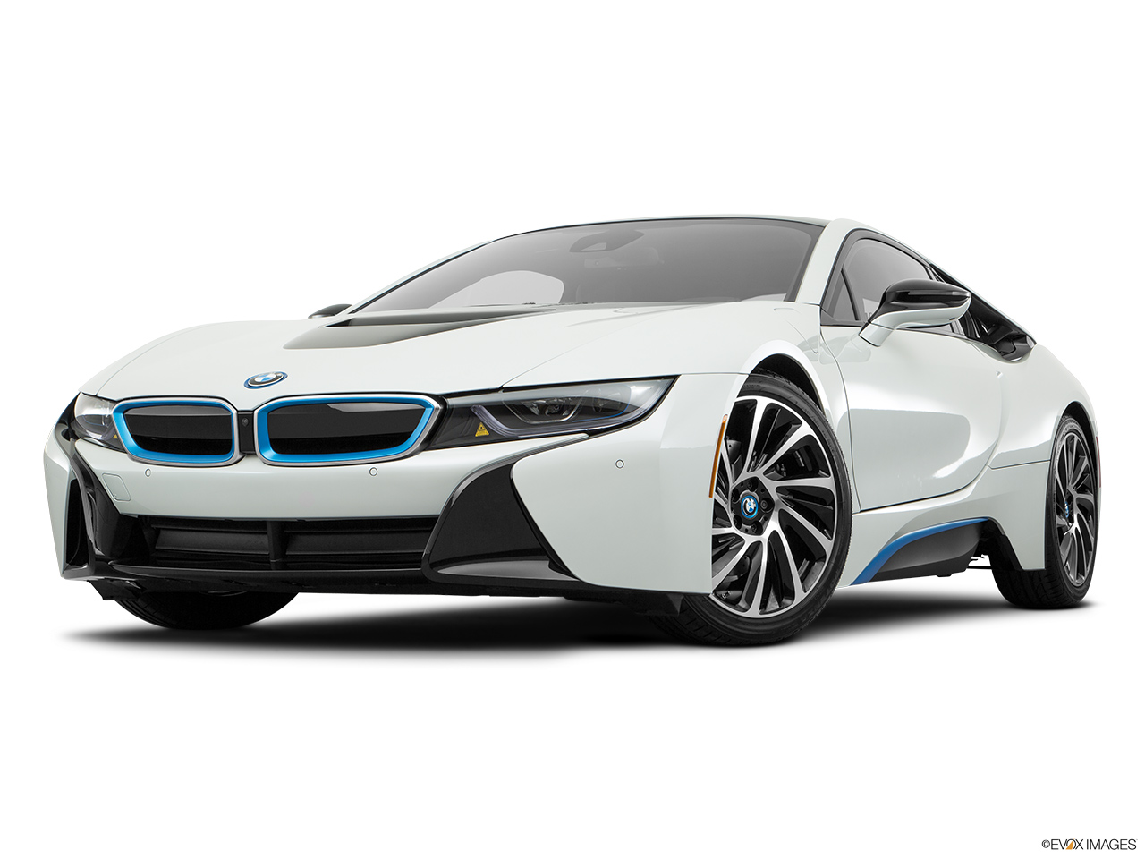 Bmw I8 2017 Oman Front Angle View Low Wide Perspective