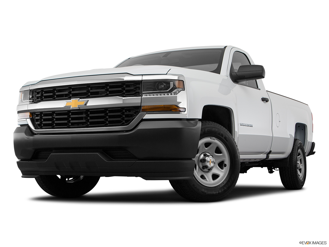 Chevrolet Silverado 2018 1500 Base, Saudi Arabia, Front angle view, low wide perspective.