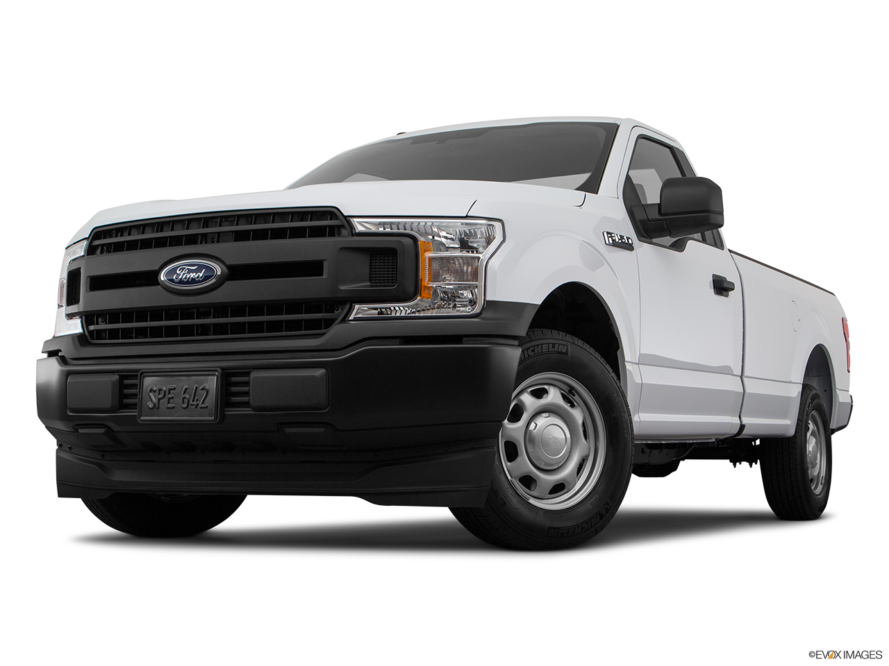 Ford F-150 2018 3.5L Regular Cab XL (2WD), Saudi Arabia, Front angle view, low wide perspective.